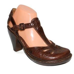 Born Shoes - Born Sz 9 EU 40.5 Brown CHARISMA Leather Mary Jane